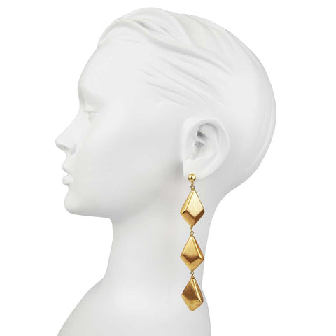 Claudia Gold Plated Drop Earrings
