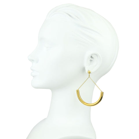 Claudia Gold Plated Metal and 925 Sterling Silver Hoops