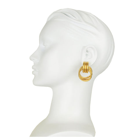 Claudia Gold Plated Metal Hoop Earrings