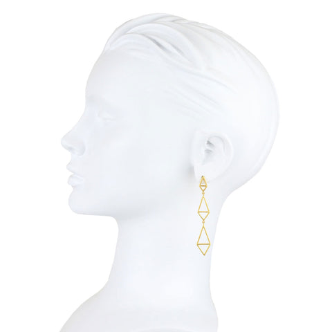Tinos 9 kt Gold Earrings