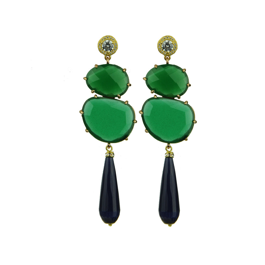 Eleanor Green Dangle Earrings