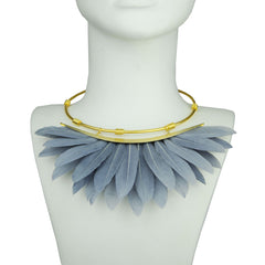 grey feather collar bust
