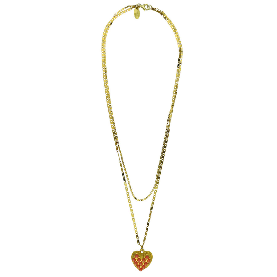 Heart chain necklace Katerina Psoma