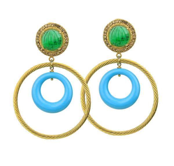 Gina Hoop Earrings