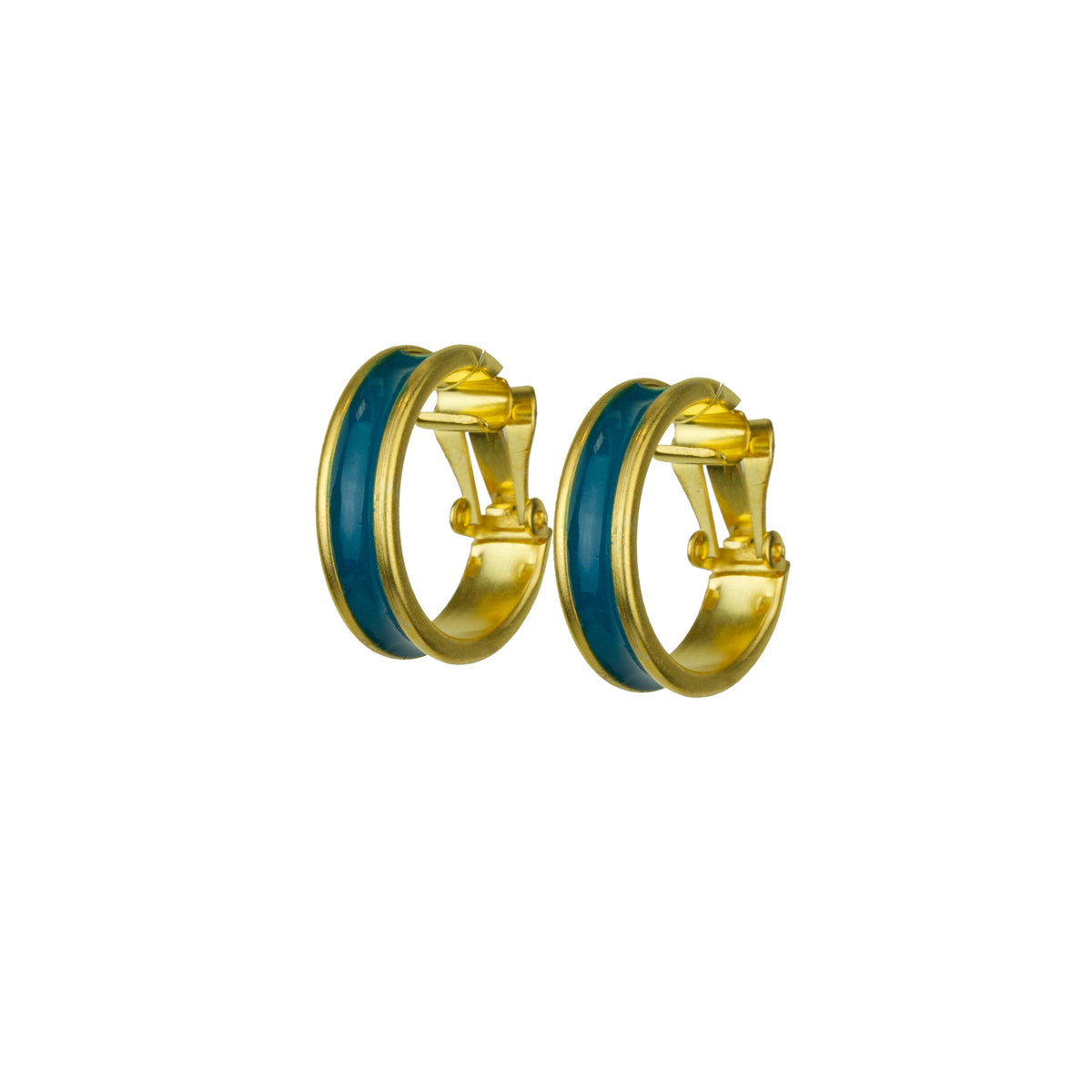 Cyclos Gold Plated Enamel Painted Hoop Earrings