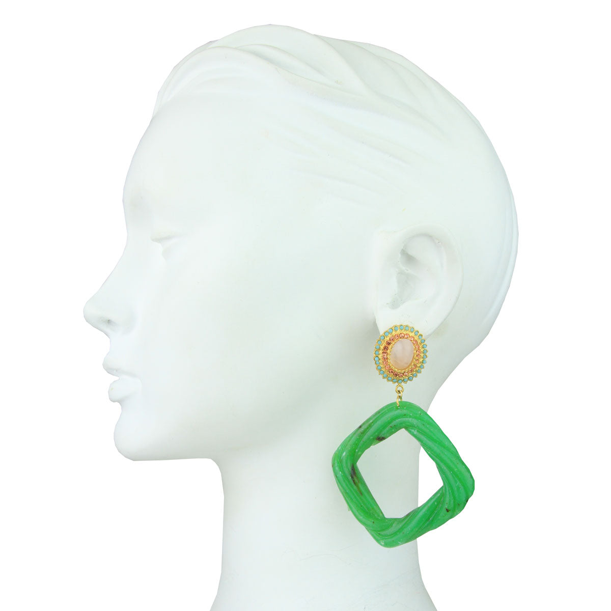 Angelica Rosettes and Green Resin Hoops