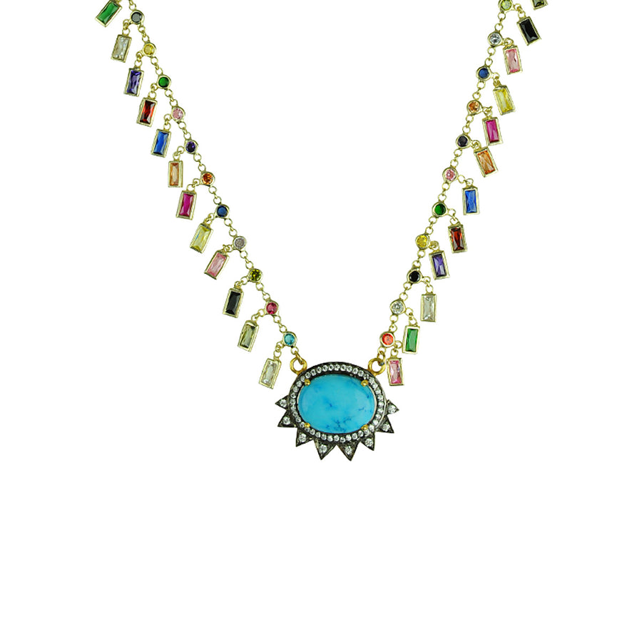 Katerina Psoma Howlite and Crystals Short Necklace