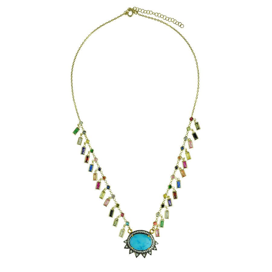 Katerina Psoma Howlite and Crystals Short Necklace semiprecious stones