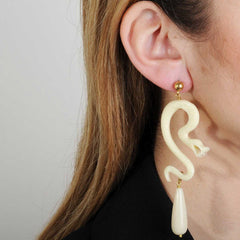 white resin dangle statement earrings katerina psoma