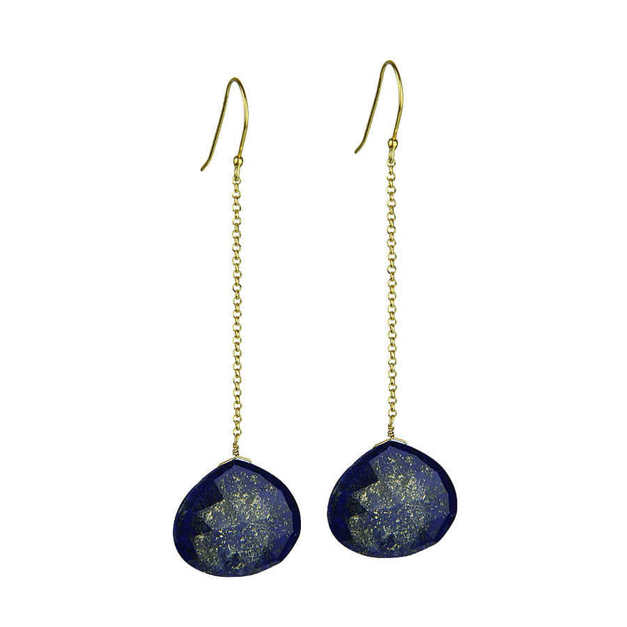 Selene Lapis Lazuli Drop Earrings