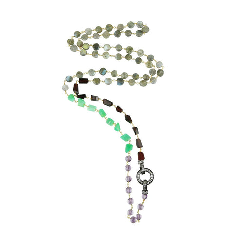 Aurora Necklace with Semiprecious Stones