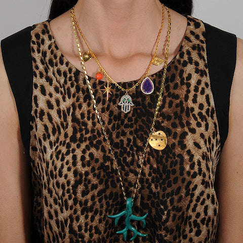 Lucilla Short Chain Necklace With Charms