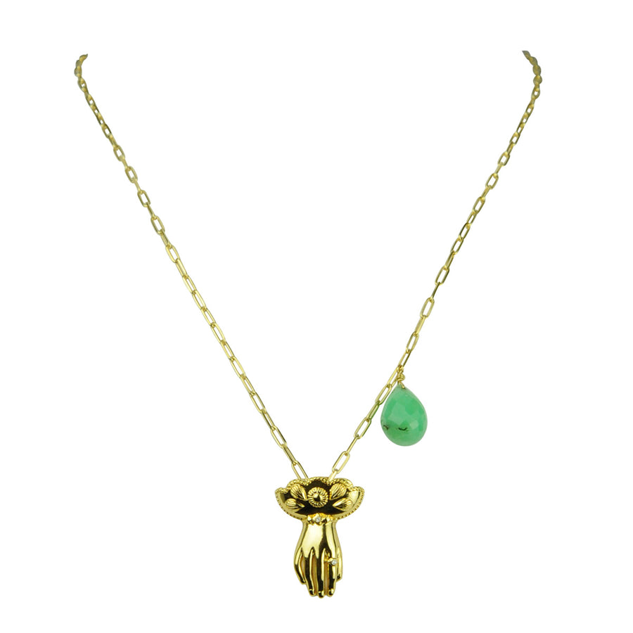 Katerina Psoma Charm and Chrysoprase Necklace