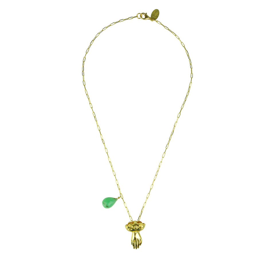 Katerina Psoma Charm and Chrysoprase Necklace fine jewelry