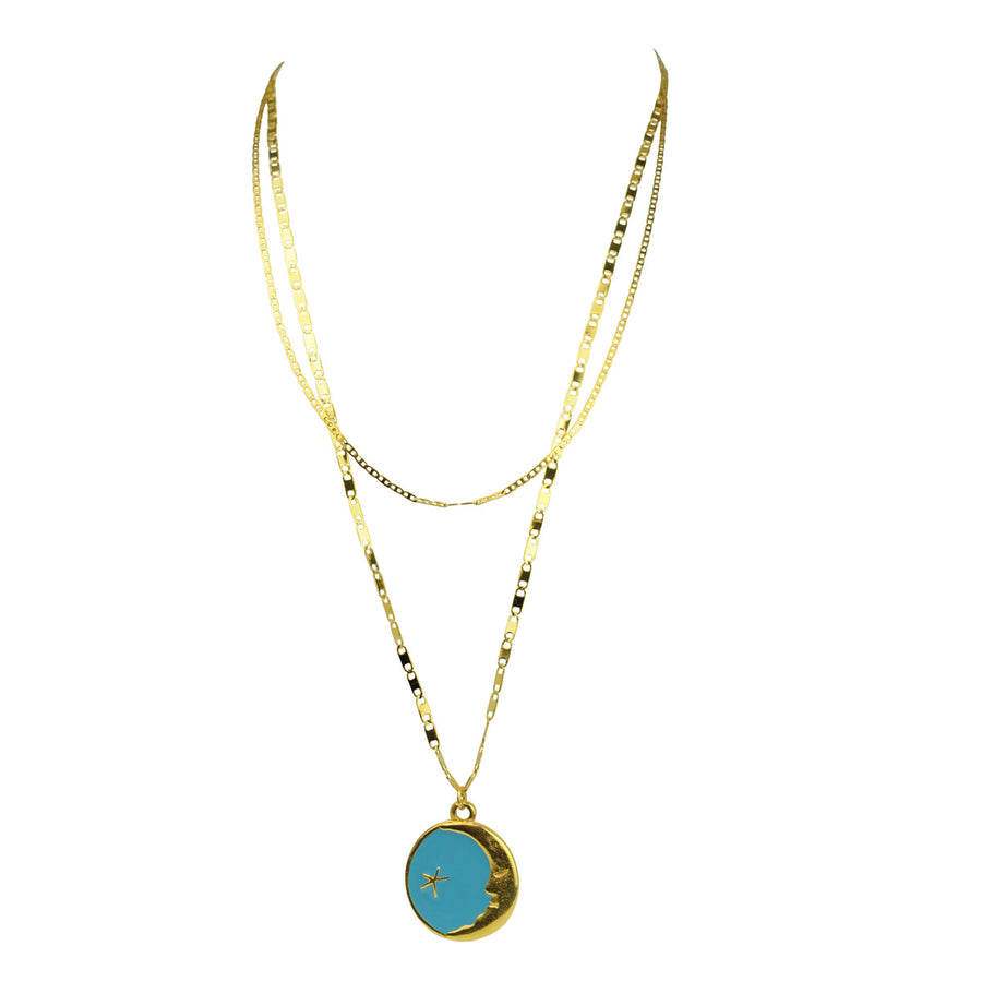 Katerina Psoma Turquoise Pendant Necklace