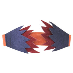 Memphis Suede and Metallic Leather Belt