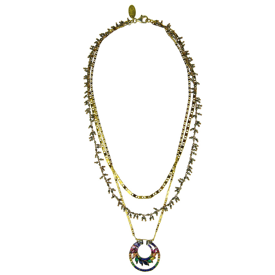 Katerina Psoma Short Necklace with Pyrite gold plated