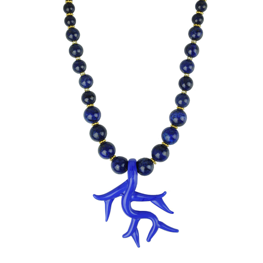 Katerina Psoma Murano Necklace with Lapis Lazuli detail
