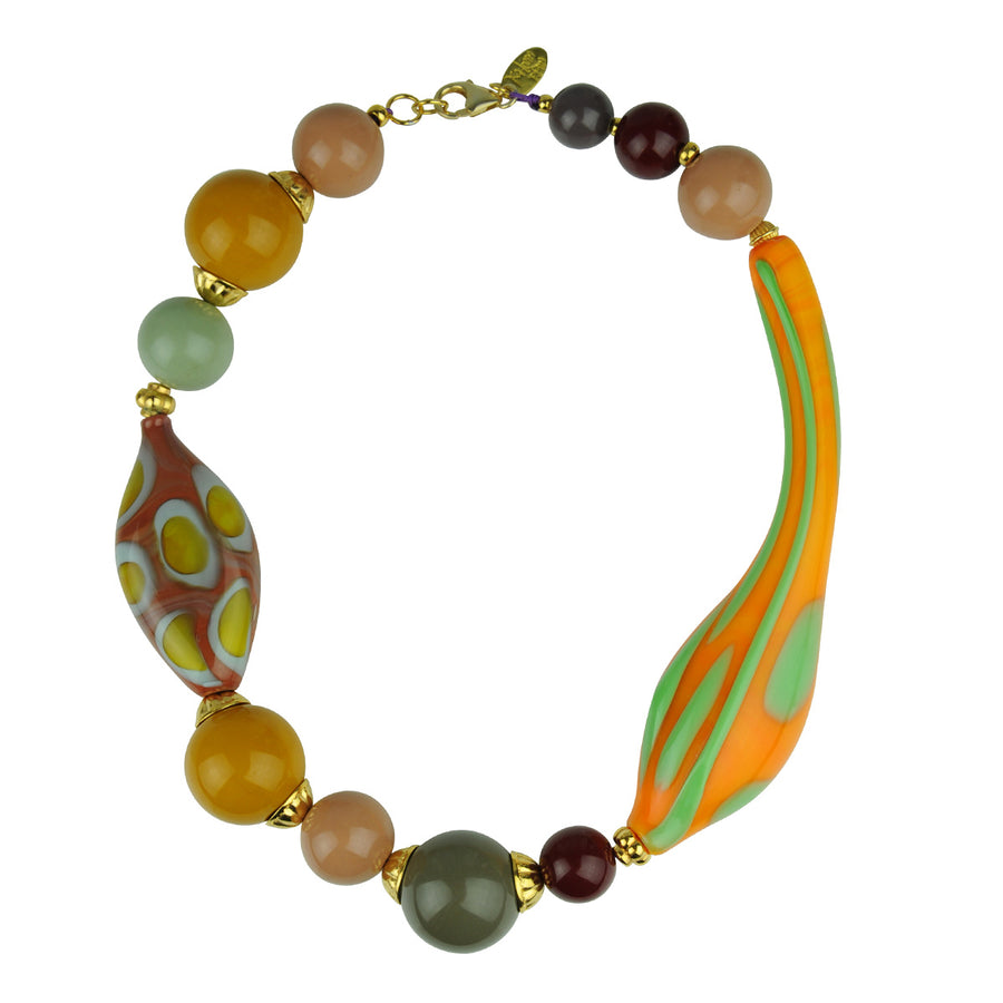 Katerina Psoma Yellow Murano Short Necklace