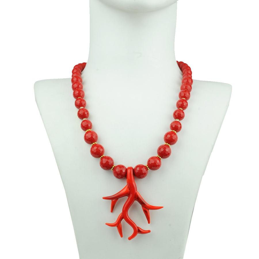 Murano Necklace with Red Beads