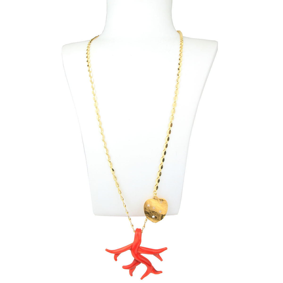 Red Murano Pendant with Gold Plated Chain