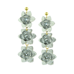 Sylvia Transparent Flower Dangle Earrings