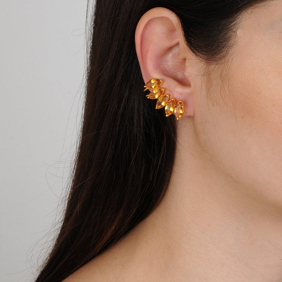 Citrine Cuff Earrings Katerina Psoma