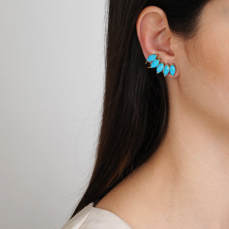 Clio Howlite Cuff Earrings Katerina Psoma