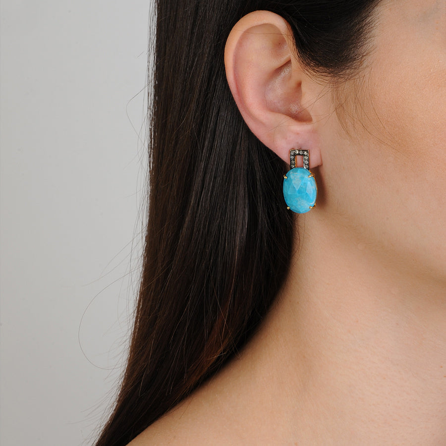 Clio Howlite Stud Earrings Katerina Psoma