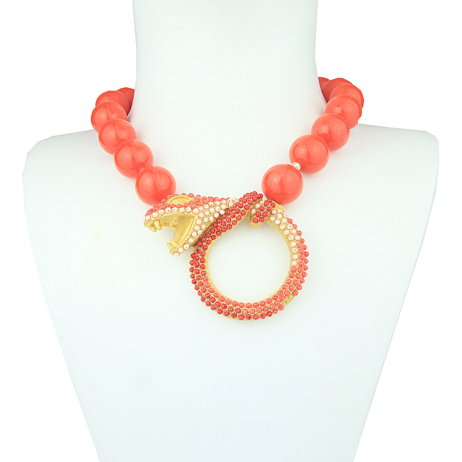 Nuwa Coral Snake Necklace