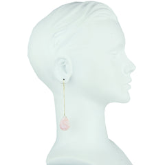 Selene Pink Opal Drop Earrings