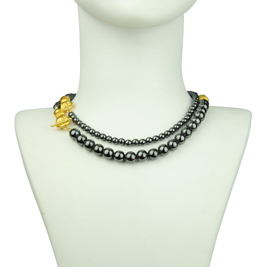 Katerina Psoma Long Necklace with Hematite