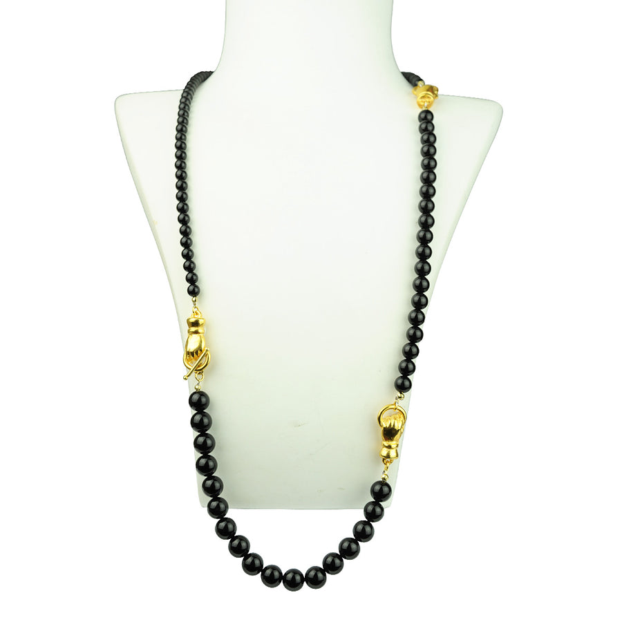 Katerina psoma onyx necklace