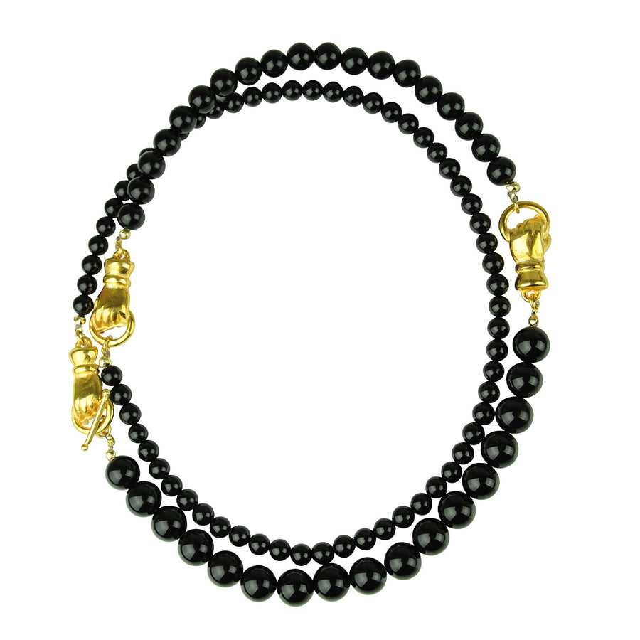 Katerina Psoma Long Necklace with Onyx semiprecious jewelry