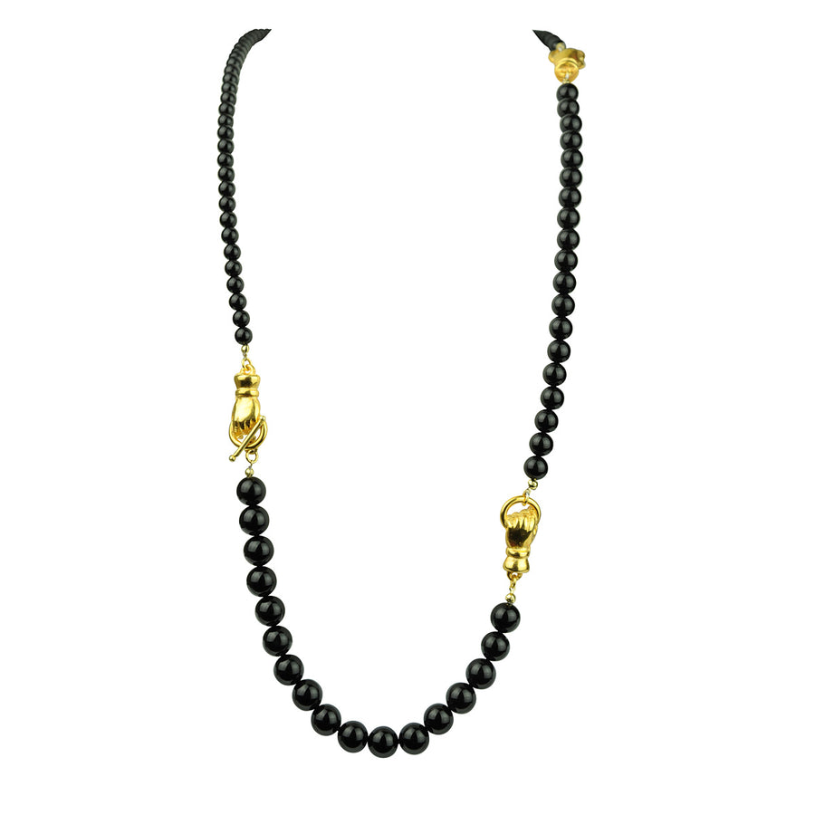 Katerina Psoma Long Necklace with Onyx