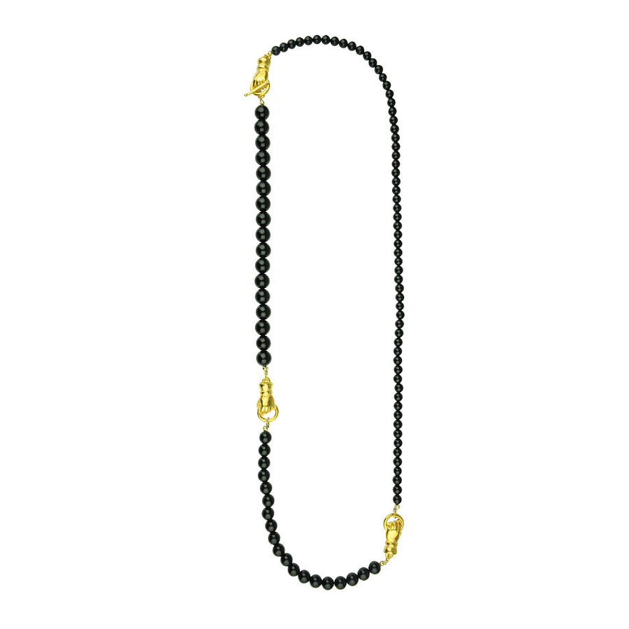 Katerina Psoma Long Necklace with Onyx semiprecious