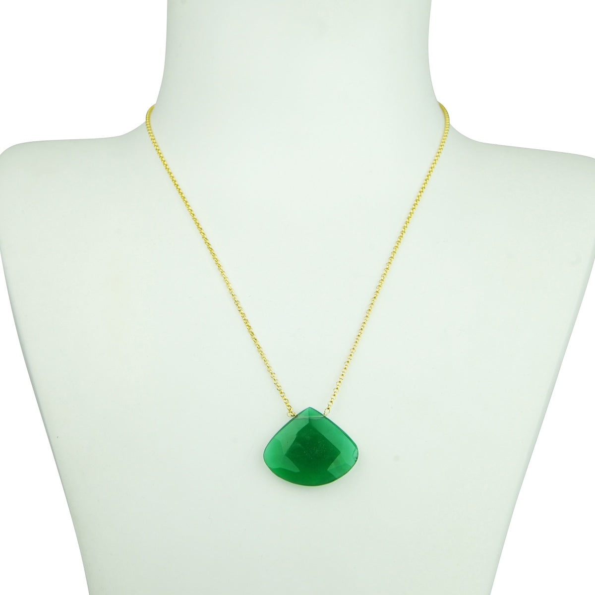 faceted semiprecious stones gold plated chain necklace katerina psoma