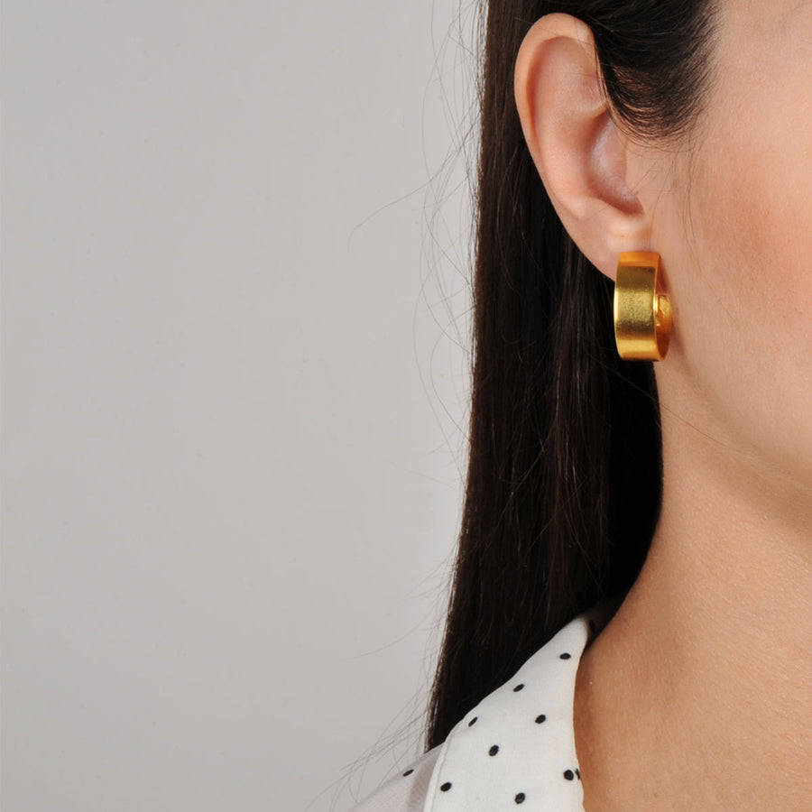 Cyclos Gold Plated Brass Hoops