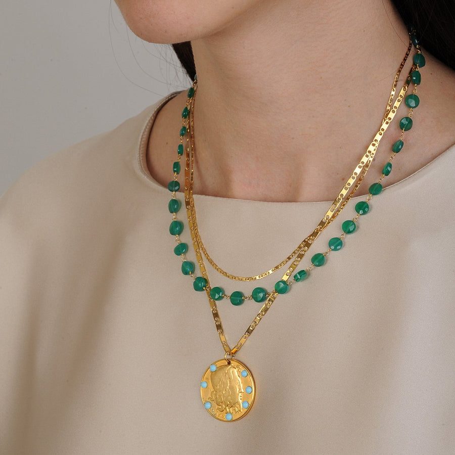 Chain Necklace with Jade Katerina Psoma