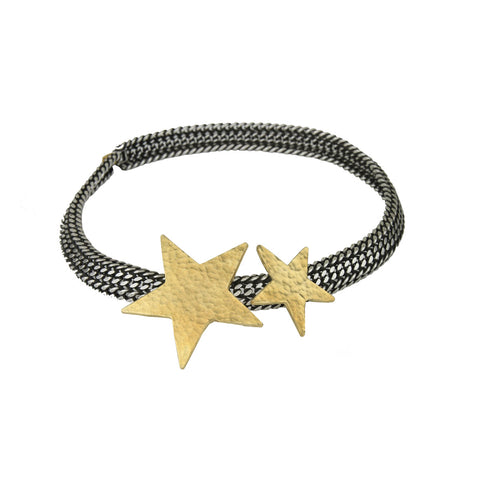 Carina Silver Chain and Star Necklace