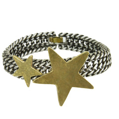 Carina Silver Chain and Star Bracelet