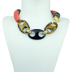 Rania Stingray and Onyx Short Necklace