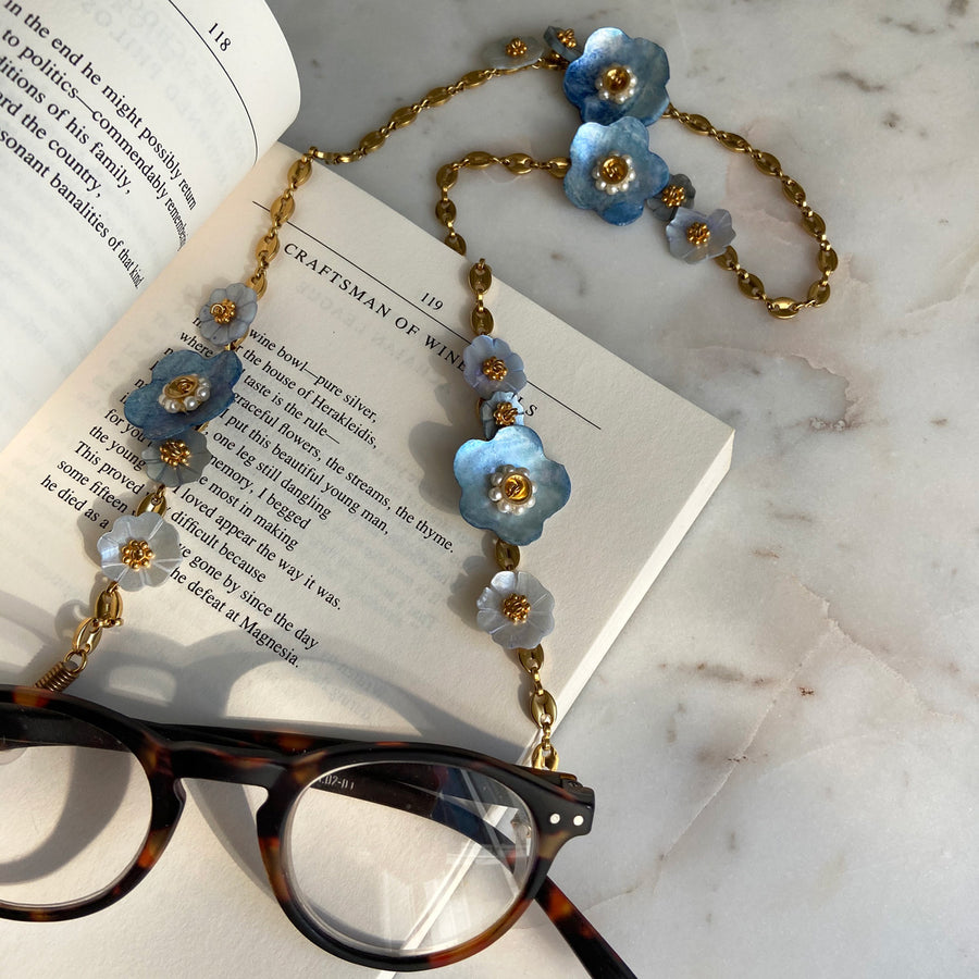 katerina psoma frame chains with blue mother of pearl  instagram