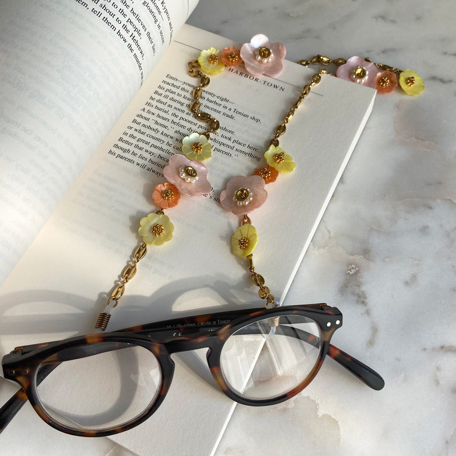 katerina psoma frame chains with multicoloured mother of pearl instagram