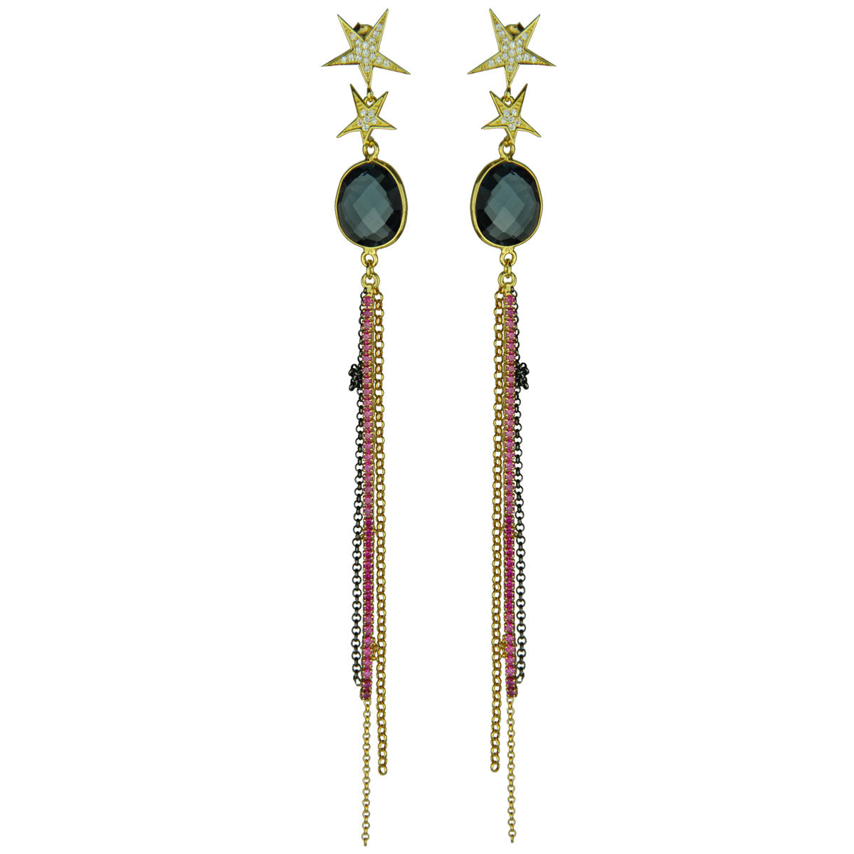 Grace Iolite Tassel Stud Earrings