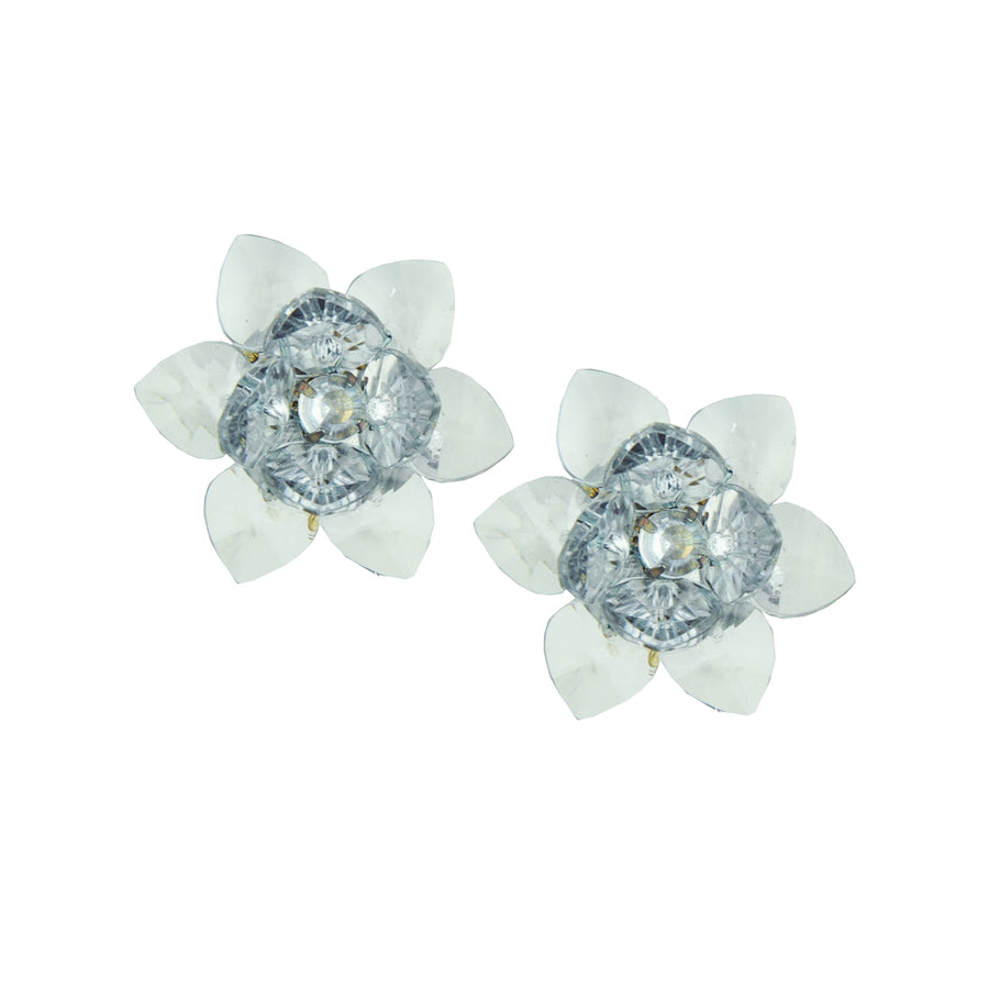 Transparent Small Flower Clip Earrings katerina psoma