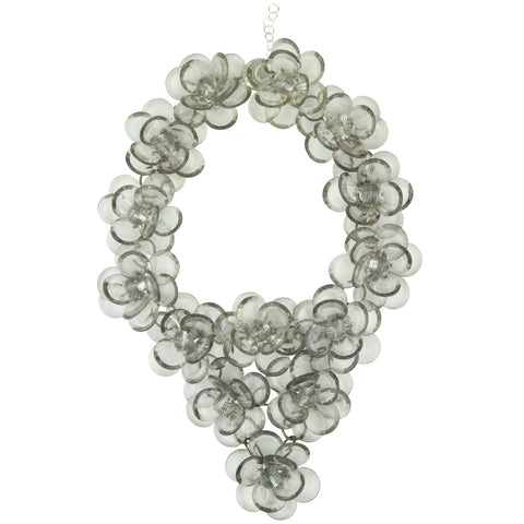 Sylvia Transparent Flower Big Necklace