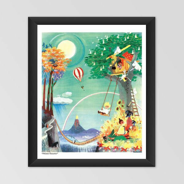Moomin poster - The Rainbow House - The Official Moomin Shop
