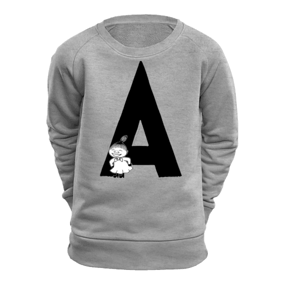 A - Moomin Alphabet Sweatshirt - feat. Moomin, Little My and Snufkin - The Official Moomin Shop