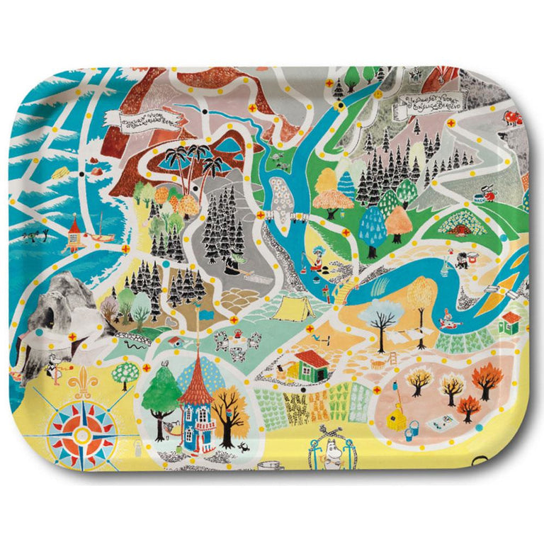 Moomin Japan map tray 27x20cm - The Official Moomin Shop